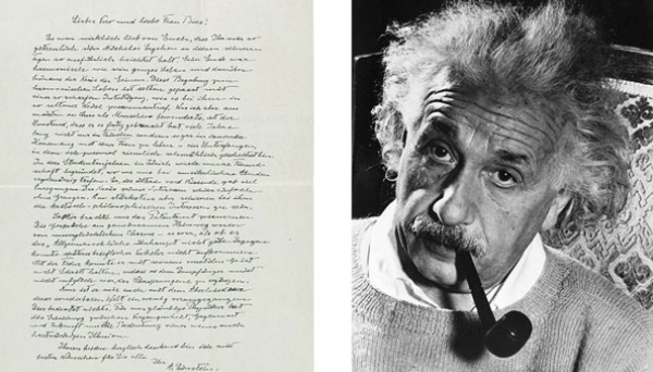 A carta de Albert Einstein