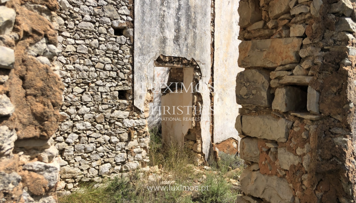 Sale of land with ruin, with sea view in Loule, Algarve, Portugal_100936