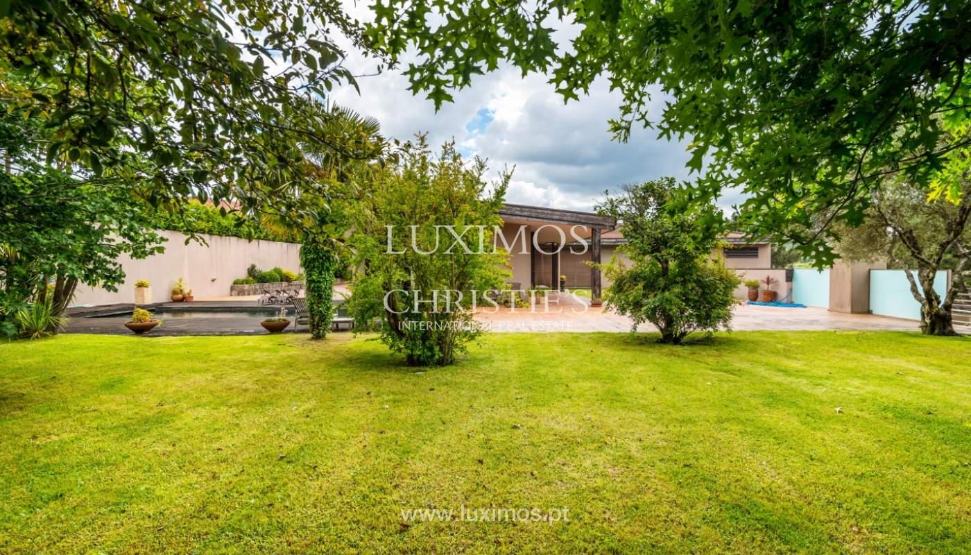 Luxury villa for sale with pool, terrace and garden, Paços de Ferreira, Portugal_107278