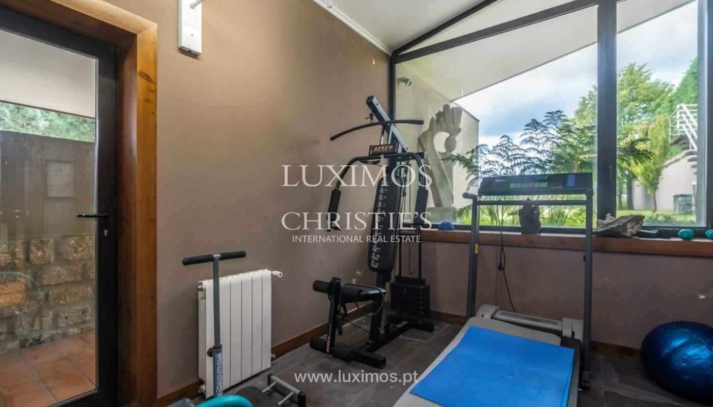 Luxury villa for sale with pool, terrace and garden, Paços de Ferreira, Portugal_107281