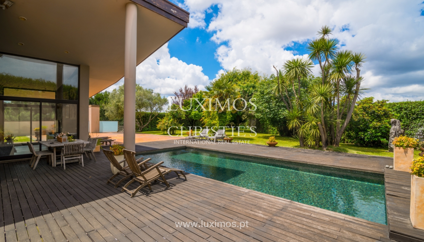Luxury villa for sale with pool, terrace and garden, Paços de Ferreira, Portugal_107295