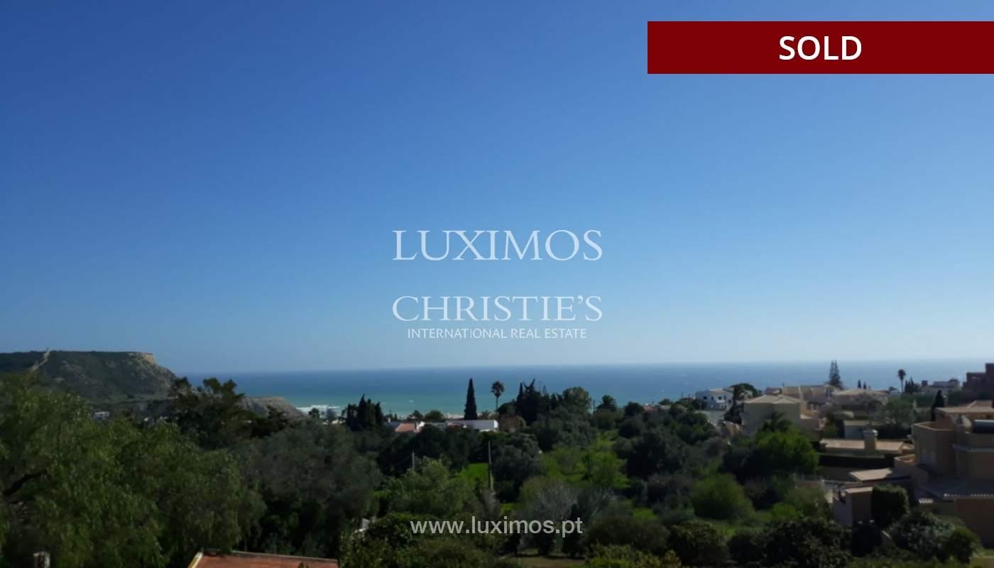 Verkauf von Grundstück mit Meerblick in Lagos, Algarve, Portugal_110340