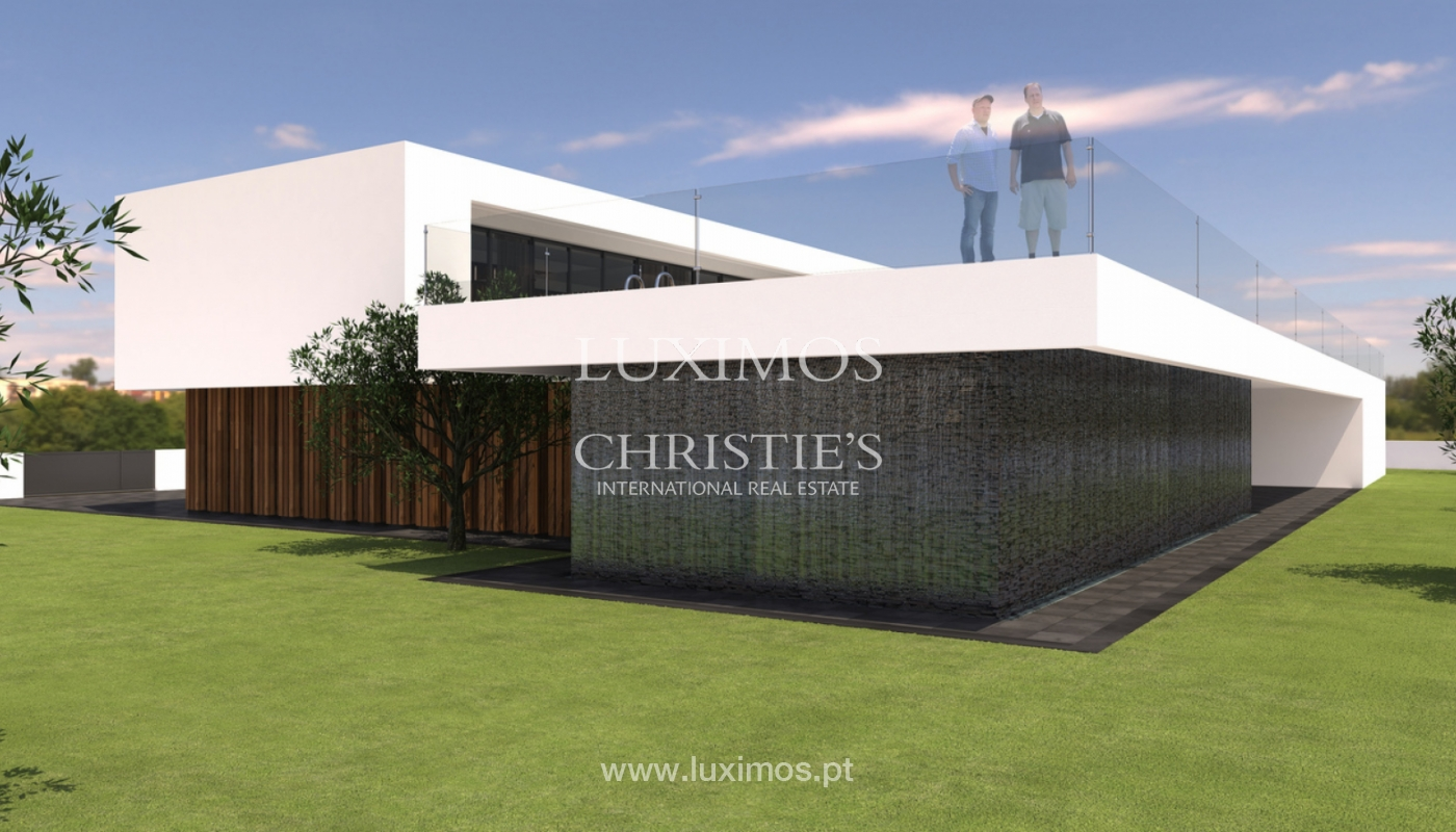Approved project for a modern villa with sea view in Olhão, Algarve, Portugal_110618