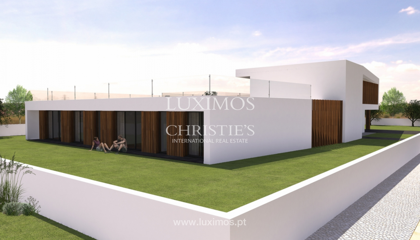 Approved project for a modern villa with sea view in Olhão, Algarve, Portugal_110619