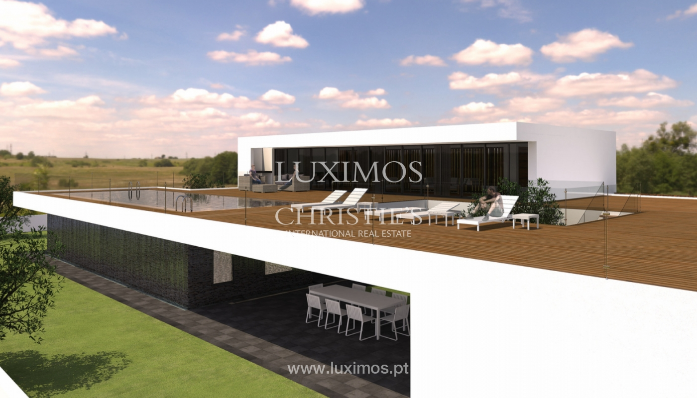 Approved project for a modern villa with sea view in Olhão, Algarve, Portugal_110628
