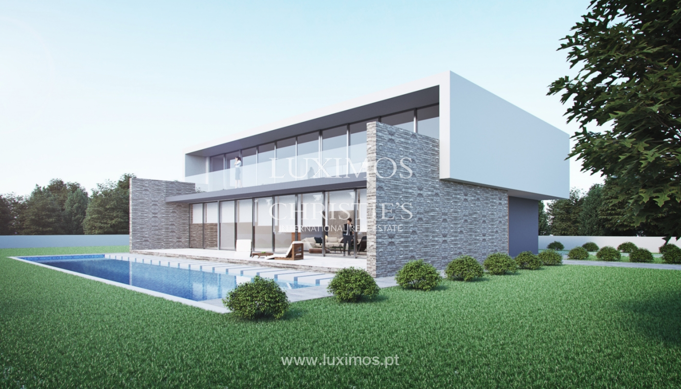 Approved project for a modern villa with sea view in Olhão, Algarve, Portugal_110637