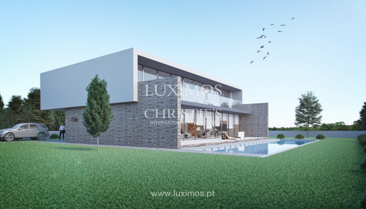 Approved project for a modern villa with sea view in Olhão, Algarve, Portugal_110640