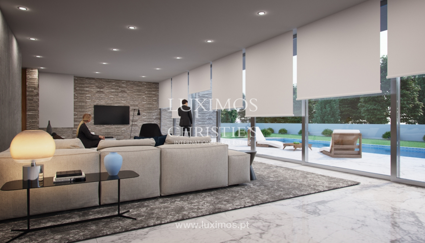 Approved project for a modern villa with sea view in Olhão, Algarve, Portugal_110650