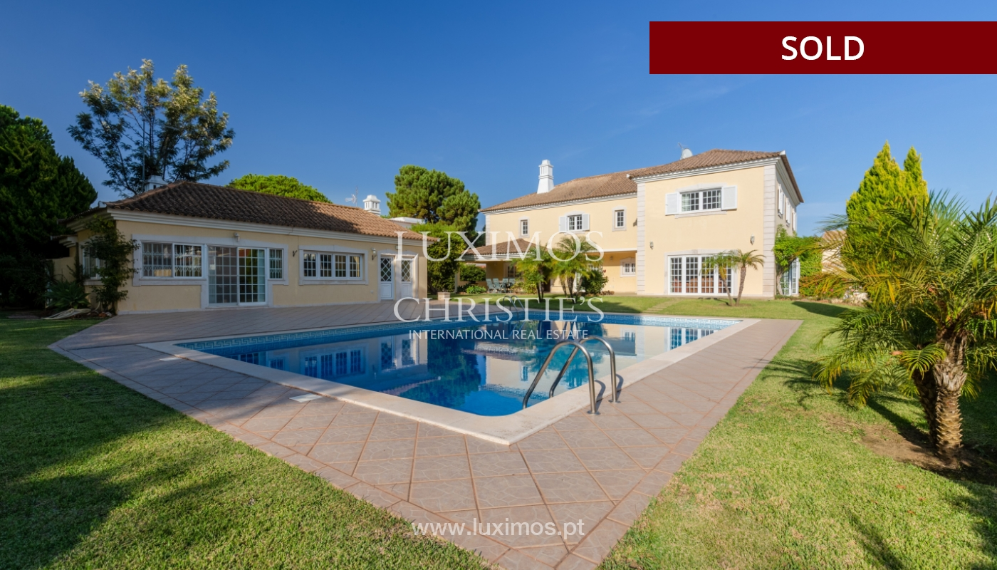 Sale of luxury villa front golf in Vilamoura, Algarve, Portugal_113510