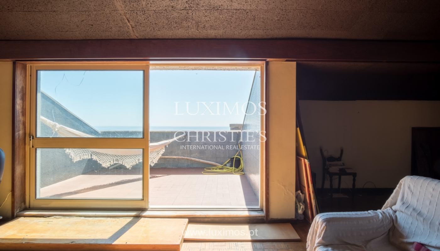 Sale of penthouse, with open views to the sea, Foz, Porto, Portugal_114406