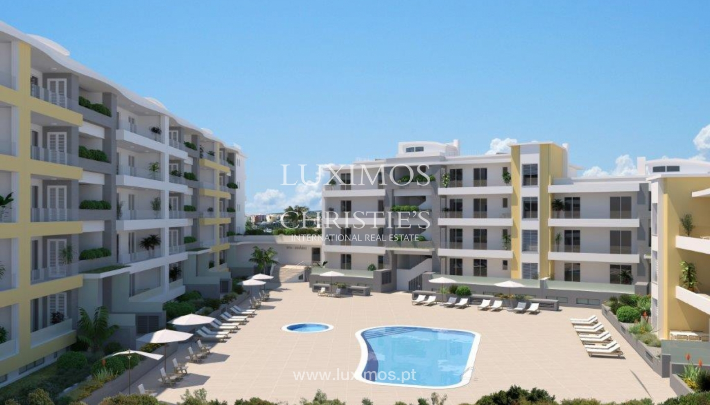 Sale of modern new apartment with sea view in Lagos, Algarve, Portugal_116190