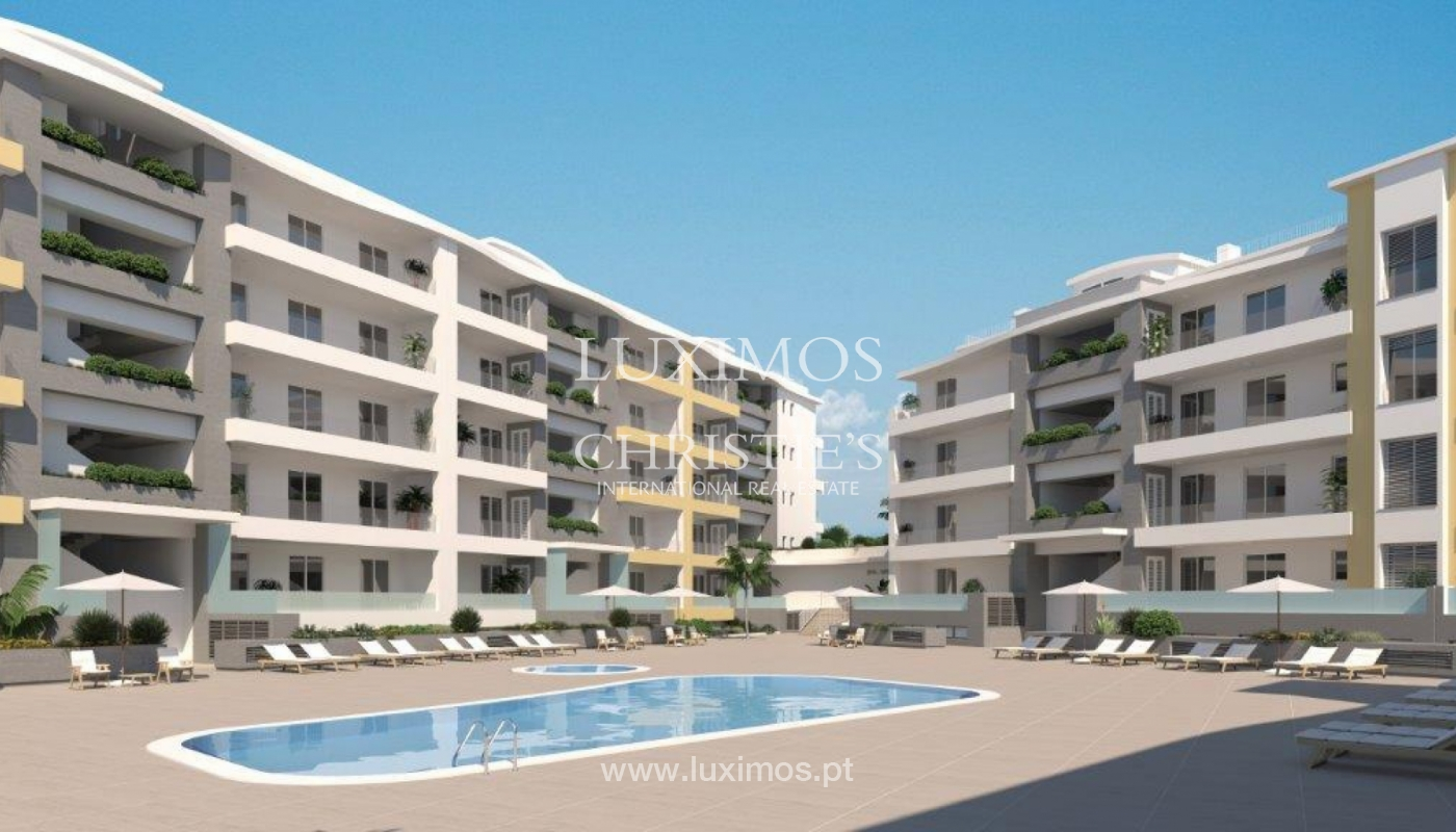 Sale of modern new apartment with sea view in Lagos, Algarve, Portugal_117280