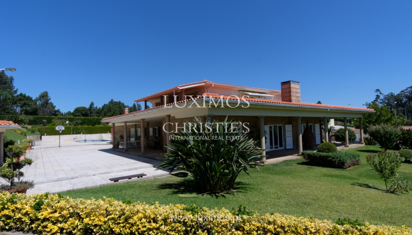 Luxuriöse Villa zu verkaufen mit Pool und Spielplatz, Póvoa Varzim, Portugal_117416
