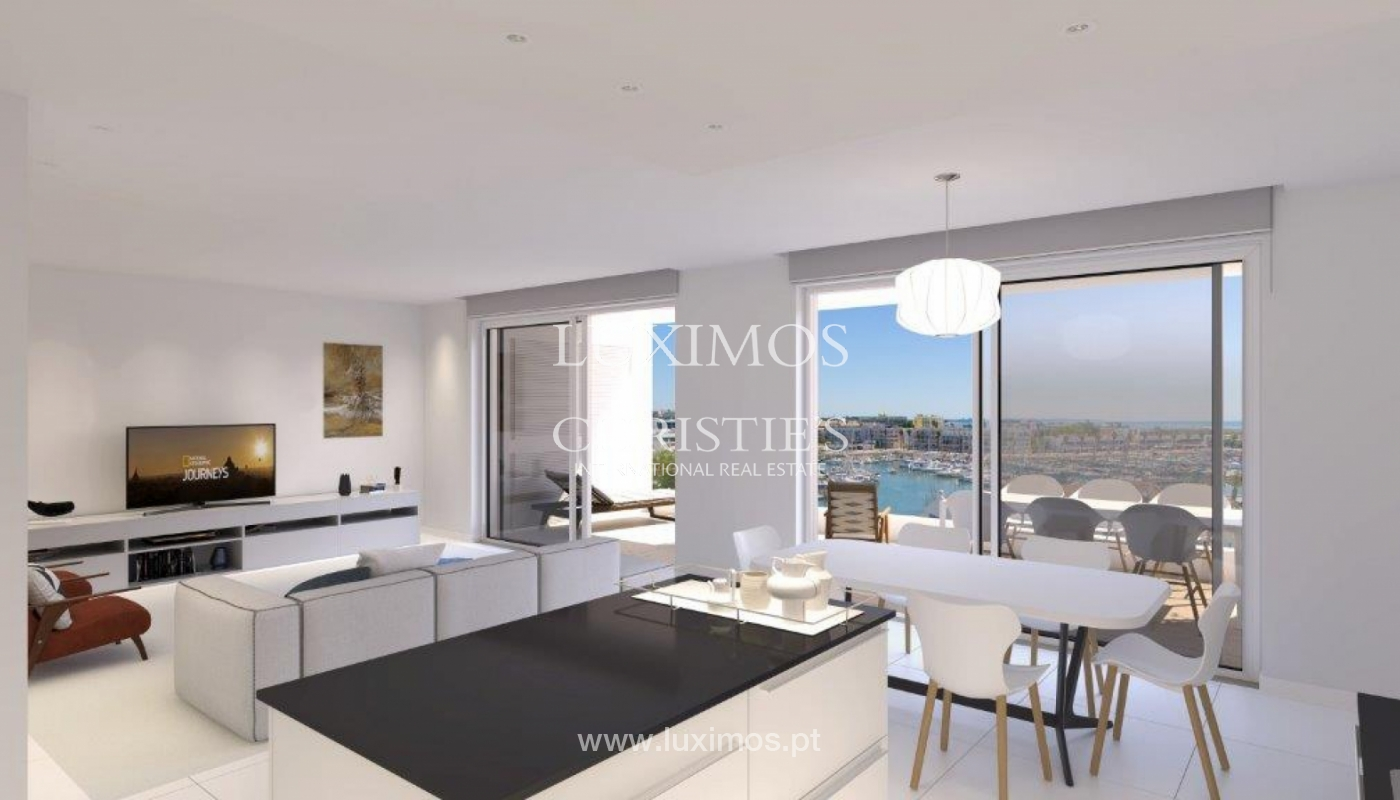 Sale of modern new apartment with sea view in Lagos, Algarve, Portugal_117473