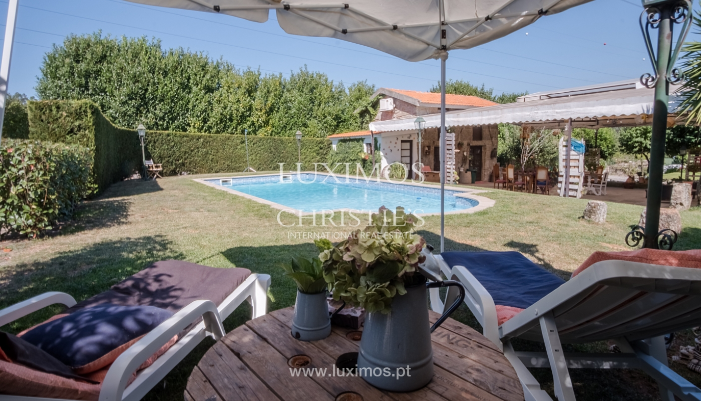 Sale of 18th century villa with garden and pool, Penafiel, Portugal_118424