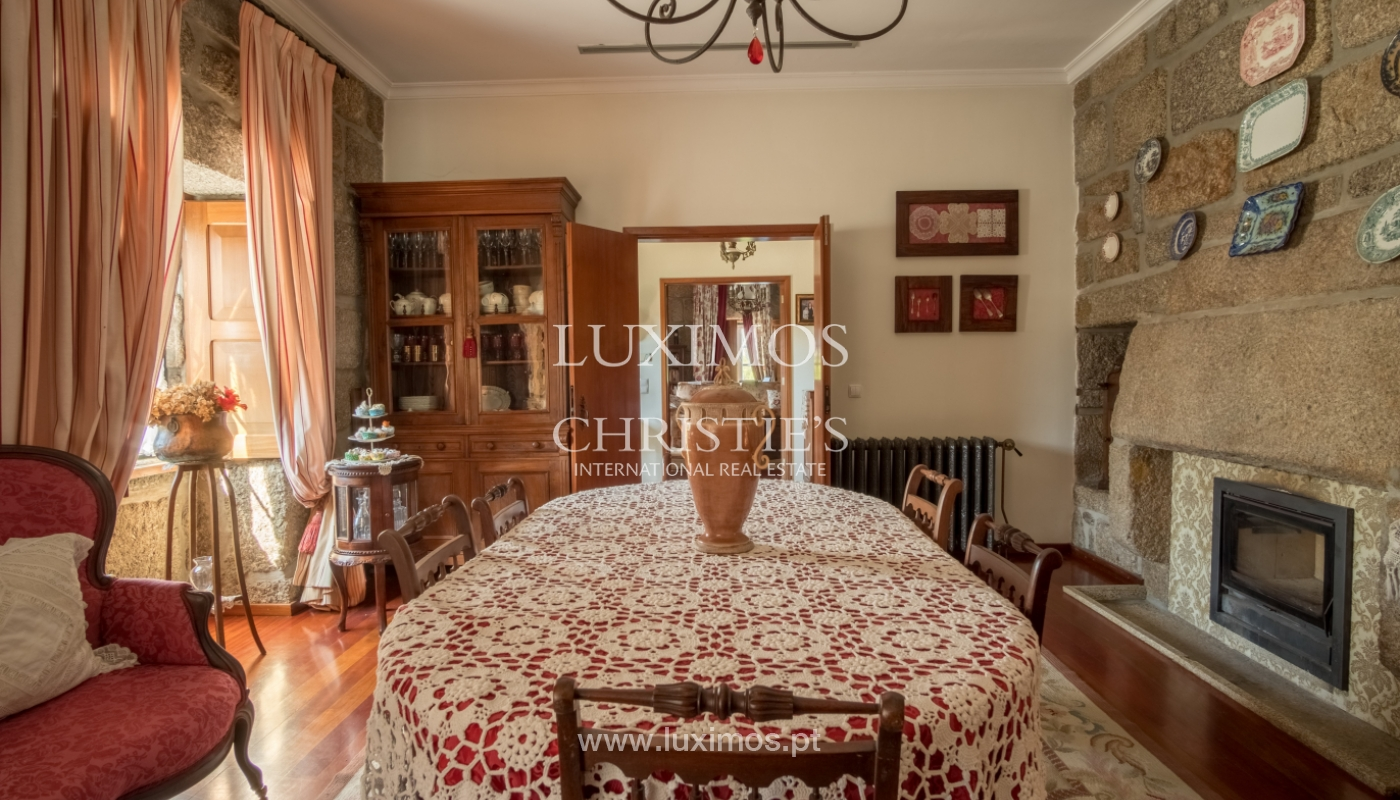 Sale of 18th century villa with garden and pool, Penafiel, Portugal_118447