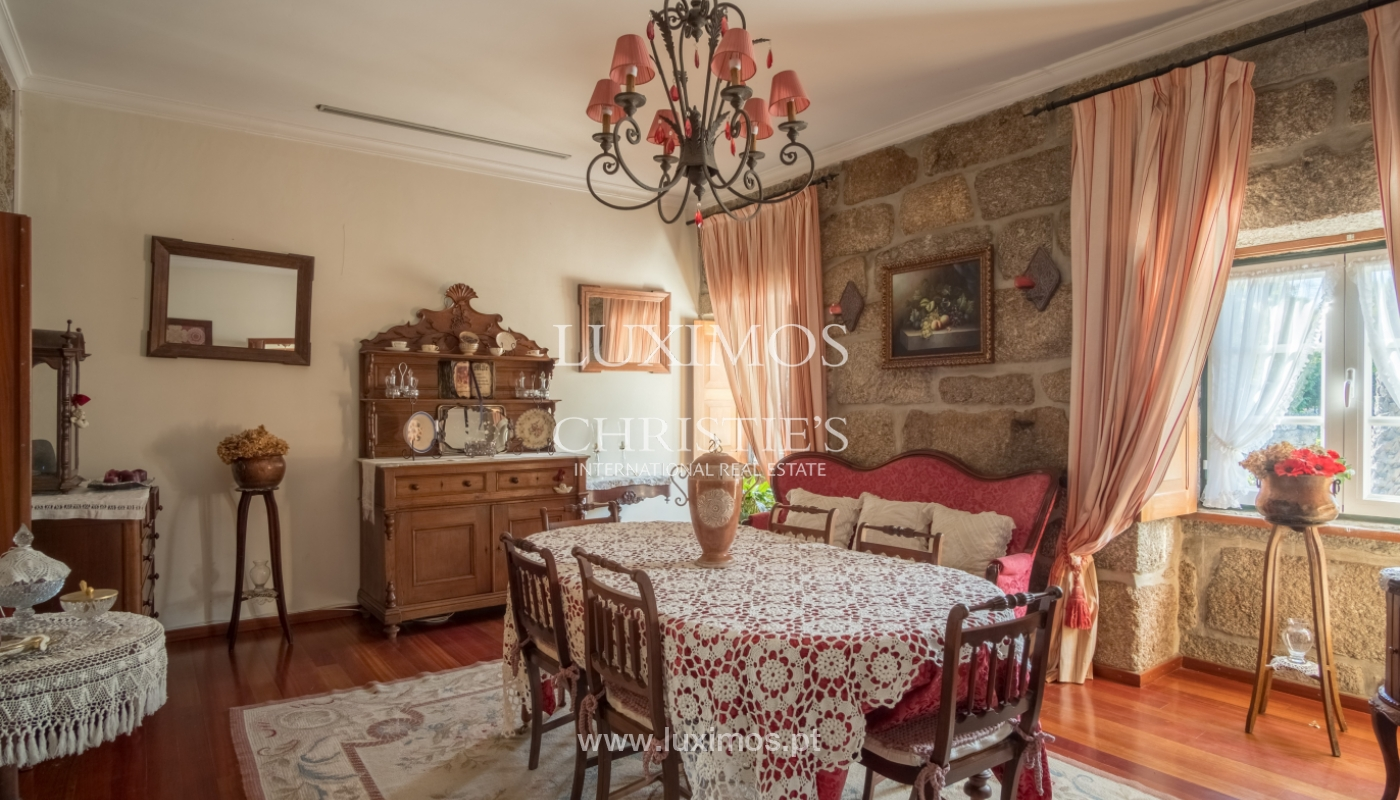 Sale of 18th century villa with garden and pool, Penafiel, Portugal_118449