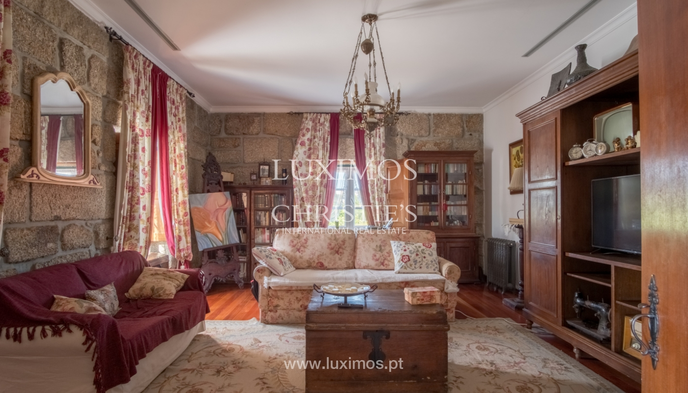 Sale of 18th century villa with garden and pool, Penafiel, Portugal_118451