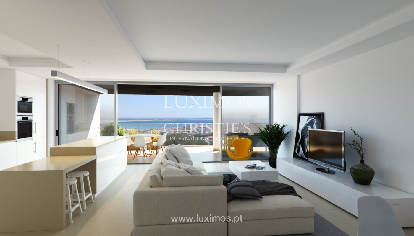 New penthouse for sale, pool and sea views, Lagos, Algarve, Portugal_121596