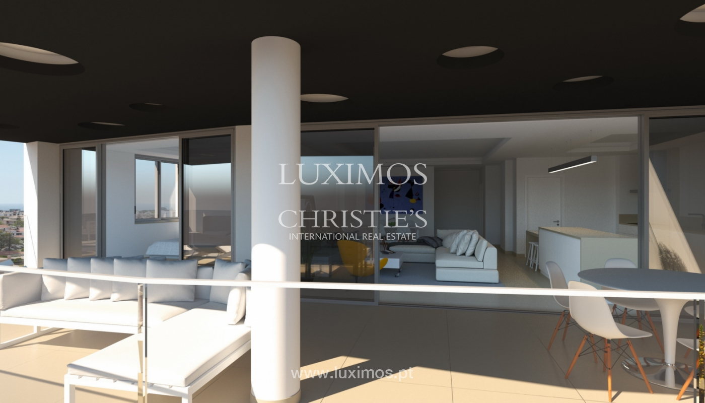 New penthouse for sale, pool and sea views, Lagos, Algarve, Portugal_121597