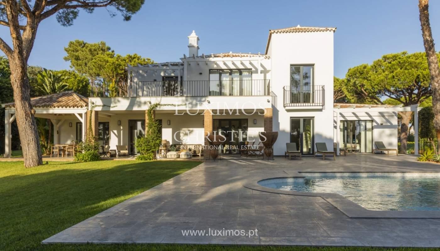 Sale of luxury villa front golf in Vilamoura, Algarve, Portugal_125753