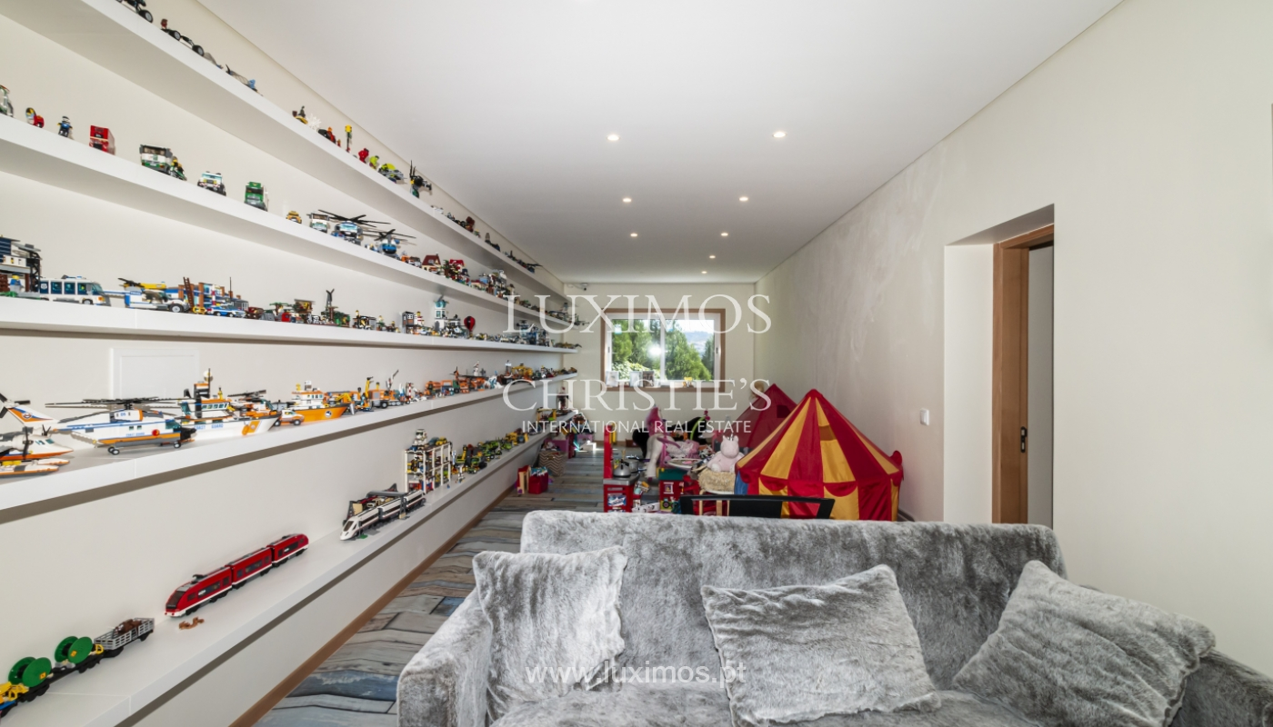 Verkauf von Villa mit Schwimmbad, See und Spielplatz, Vizela, Portugal_126280