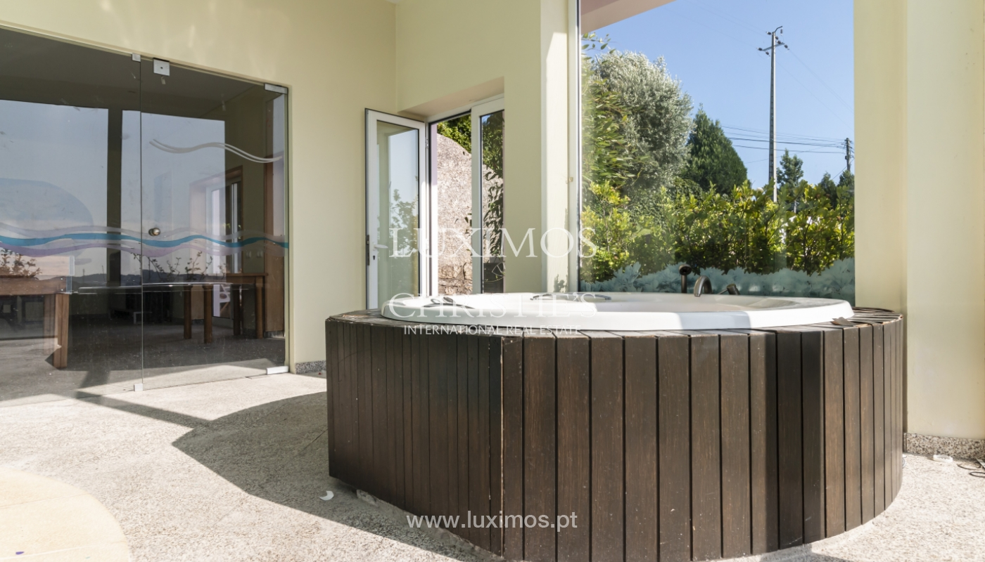 Sale of villa with swimming pool, lake and playground, Vizela, Portugal_126286