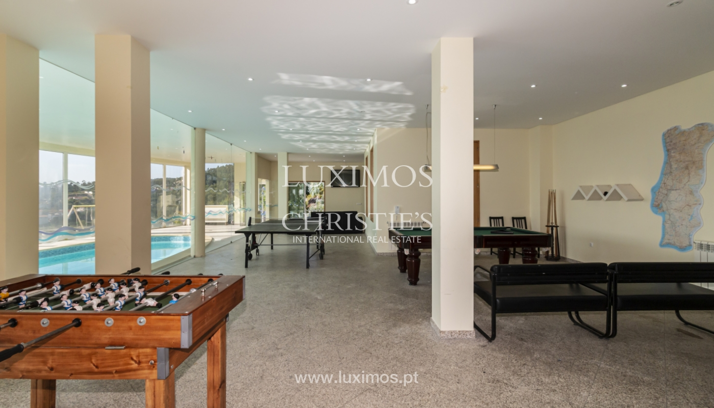 Sale of villa with swimming pool, lake and playground, Vizela, Portugal_126293