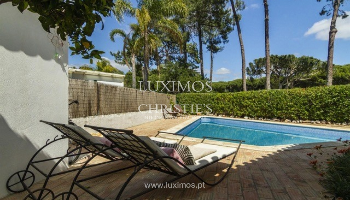 Villa à vendre avec piscine en front golf à Vilamoura, Algarve, Portugal_134449