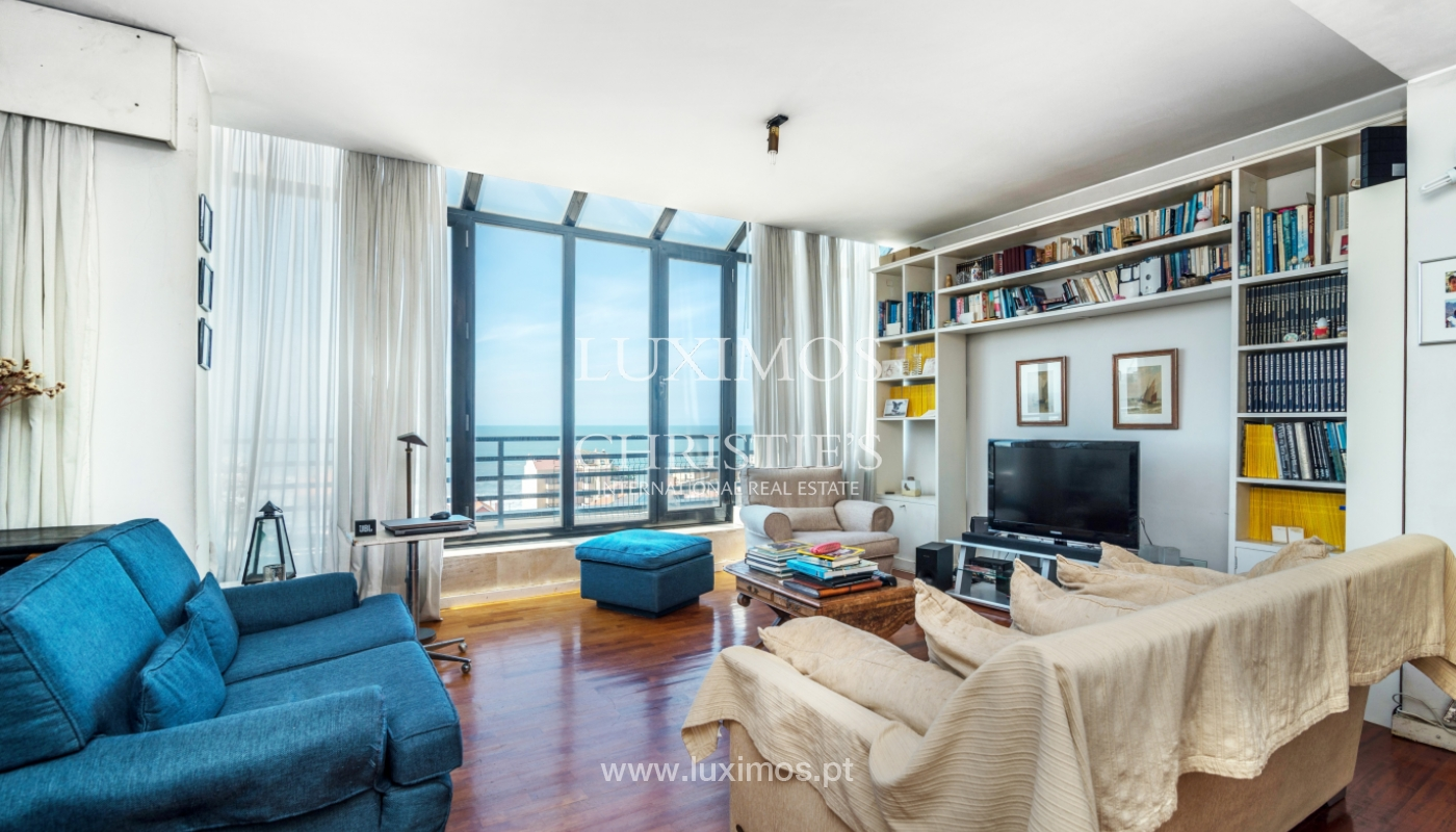 Sale of duplex apartment with balcony and sea views, in Porto, Portugal_136811