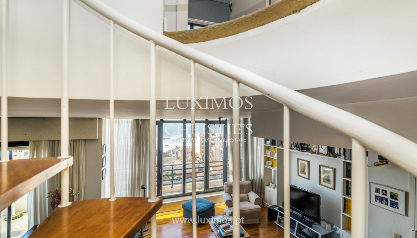 Sale of duplex apartment with balcony and sea views, in Porto, Portugal_136821