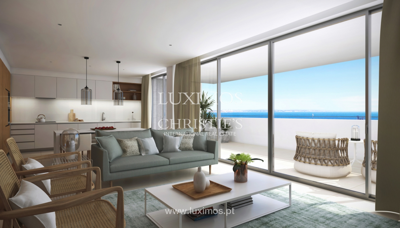 Nuevo apartamento c/ vistas mar, condominio cerrado,Lagos,Algarve,Portugal_137981