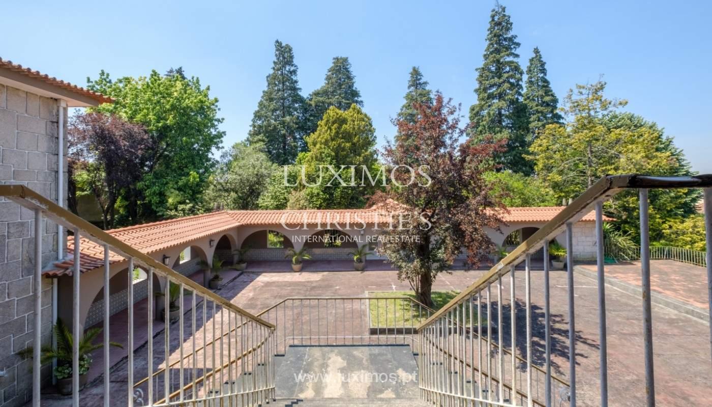 Venta de casa de campo, con jardines y piscina, V. N. Famalicão, Portugal_141325