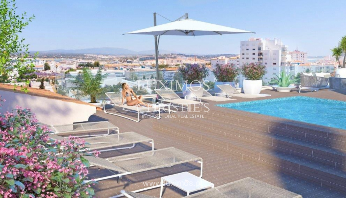 Sale of apartment with terrace under construction in Lagos, Algarve, Portugal_141634