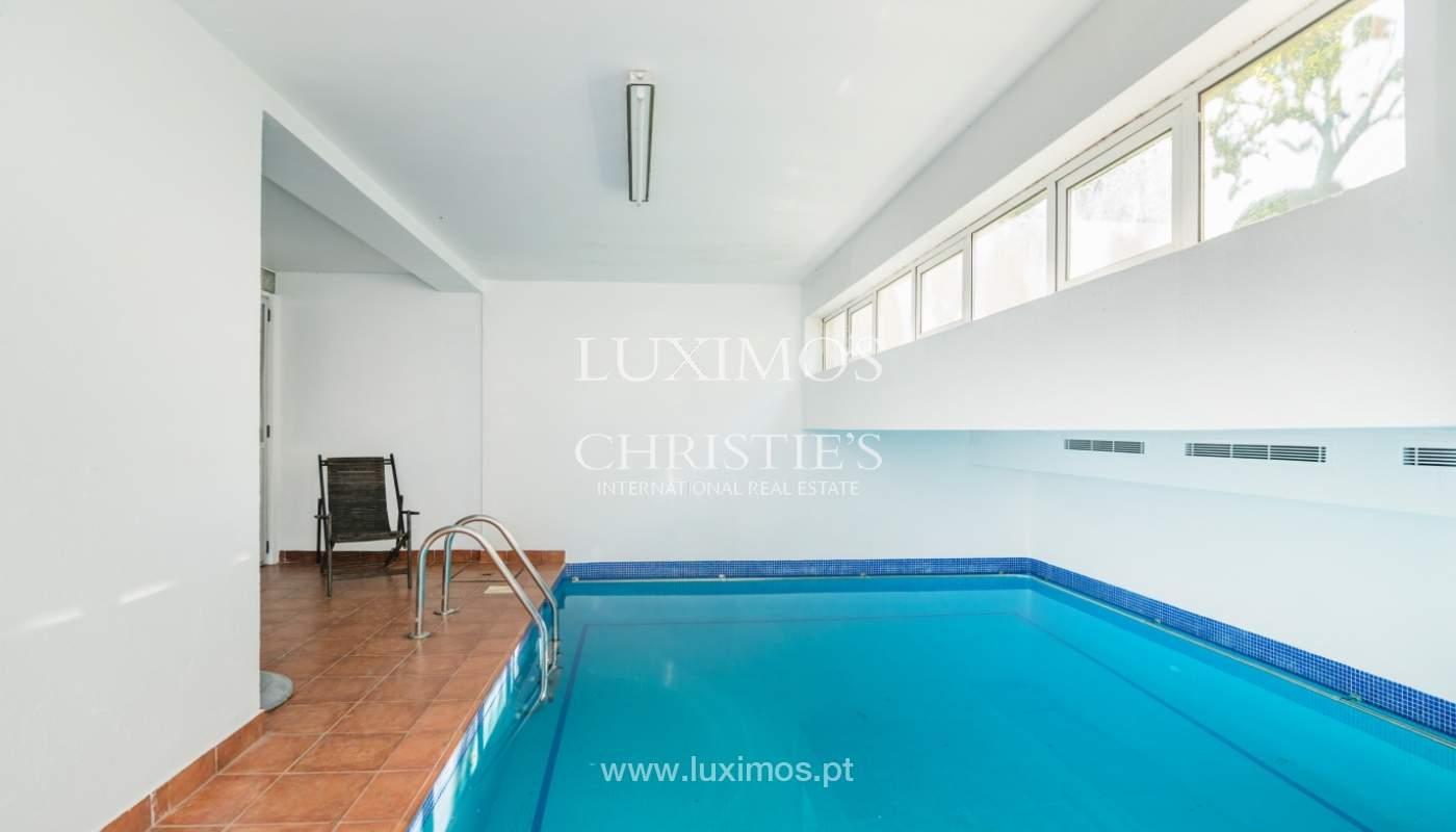 Casa con jardín y piscina interior, en venta, en Foz do Douro, Portugal_146186