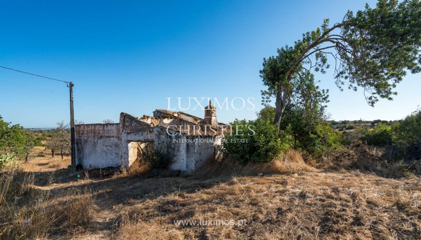 Terrain avec vue sur la mer, pour la construction, à Quelfes, Olhão, Algarve_149325