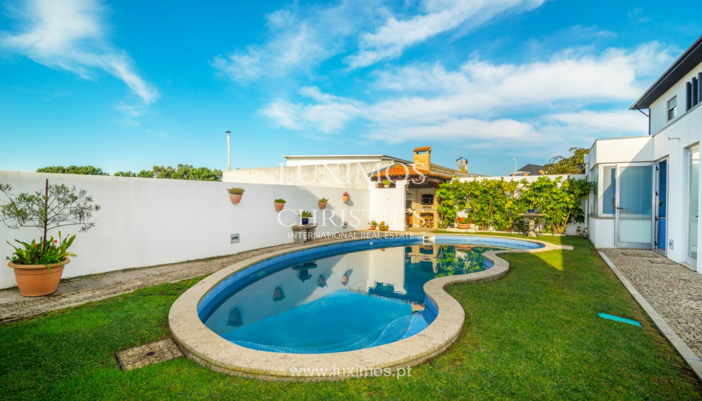Modern villa with pool and garden, for sale, in Canidelo, Porto, Portugal_157502