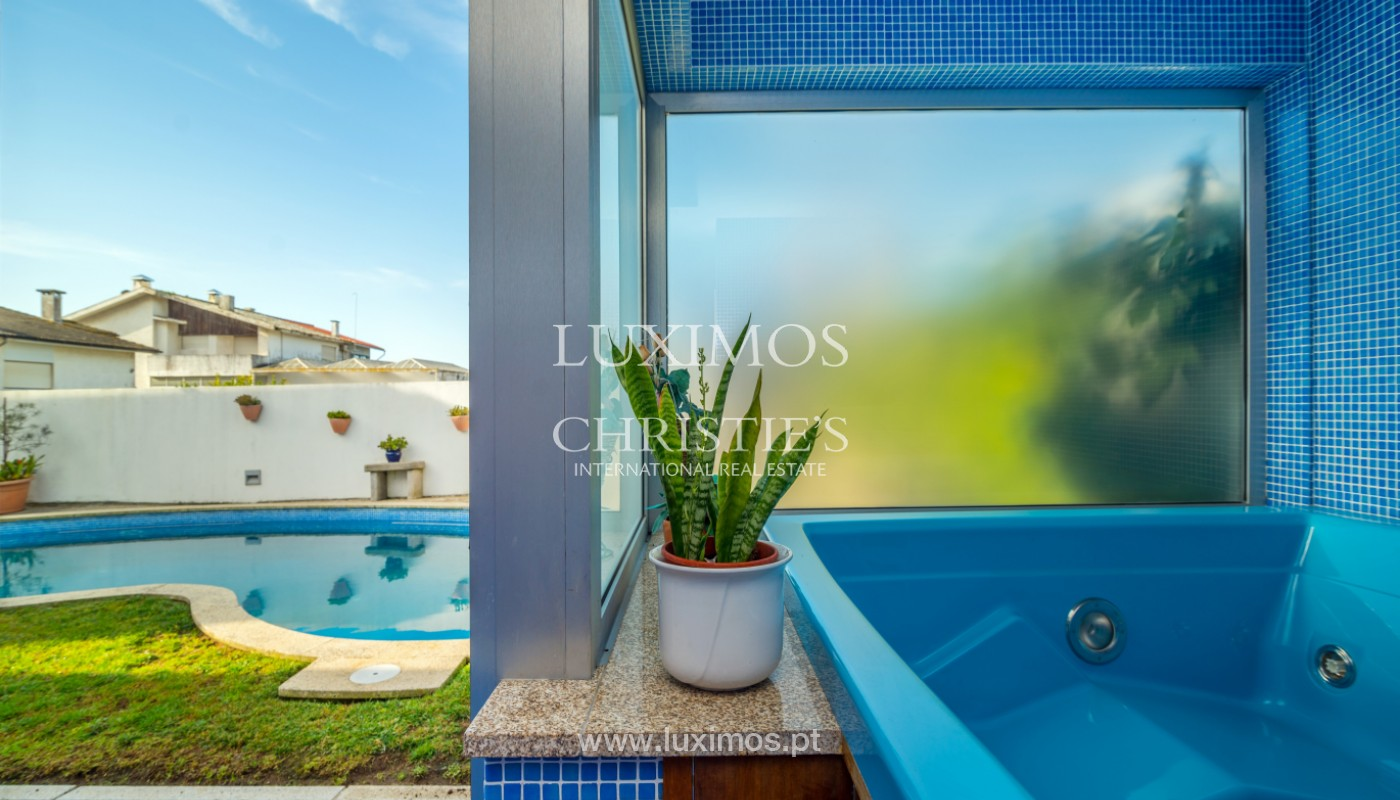Modern villa with pool and garden, for sale, in Canidelo, Porto, Portugal_157503
