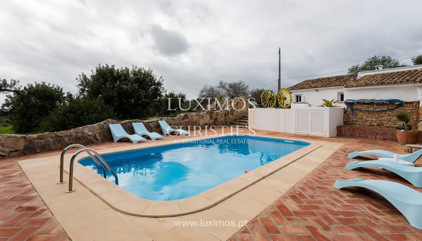 Moradia rústica com piscina e vista serra, Estói, Faro, Algarve_159158