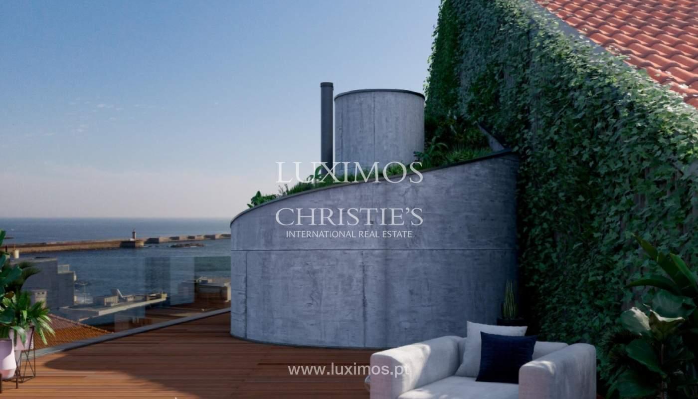 Penthouse duplex mit Terrassen, zu verkaufen, in der Nähe des Strandes, Foz do Douro, Porto, Portugal_161960