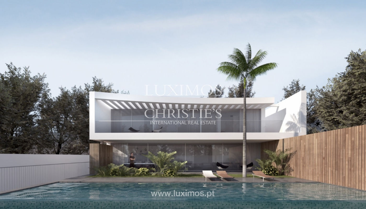 Villa moderna con piscina, en construcción, Vilamoura, Algarve_168715