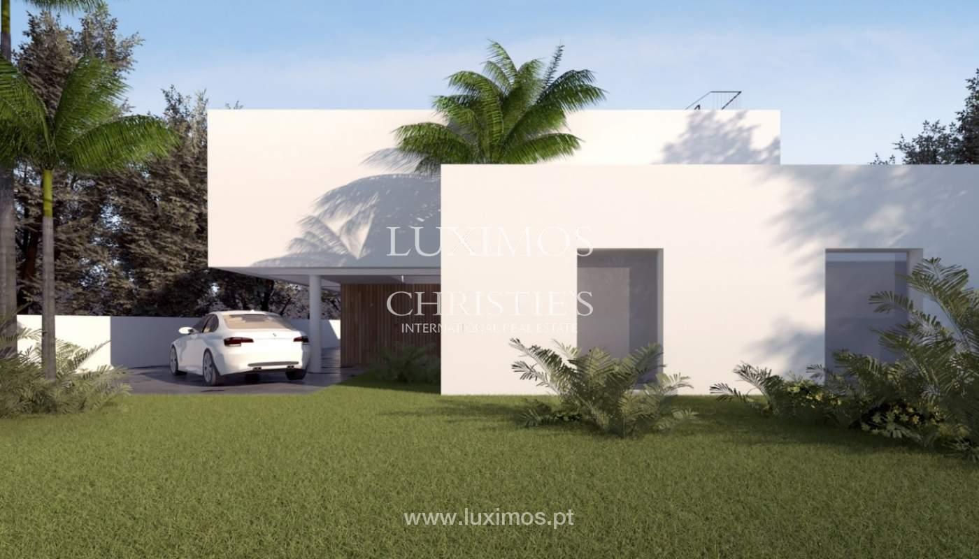 Villa moderna con piscina, en construcción, Vilamoura, Algarve_168717
