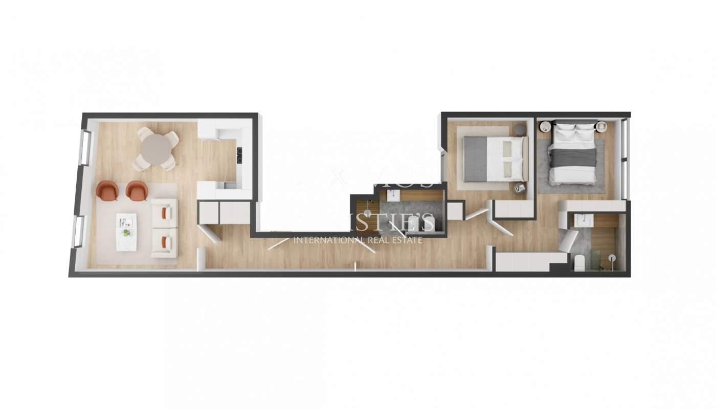Piso de 2 dormitorios en venta, en Foz do Douro, Oporto Portugal_179507