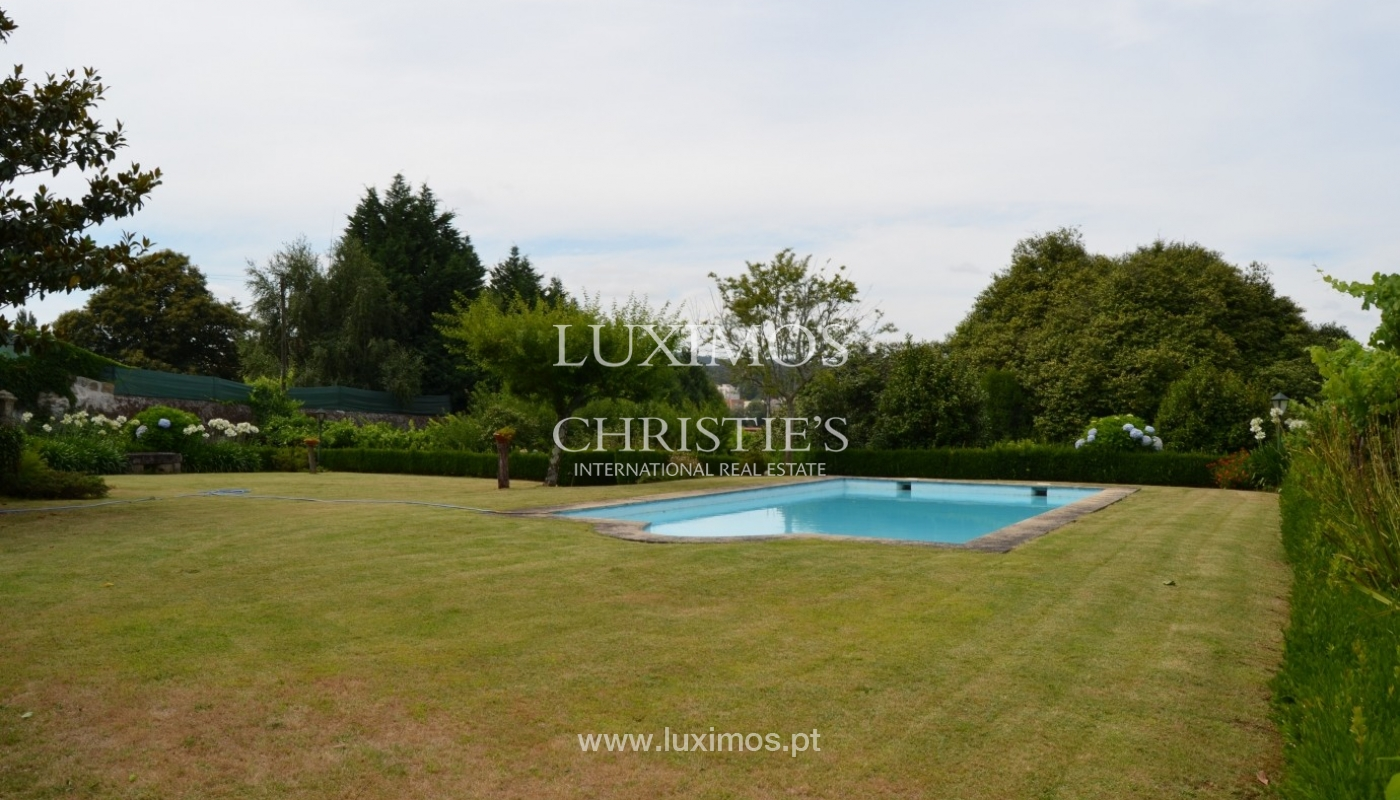 Country house with garden, lake and swimming pool, Penafiel, Portugal_33235