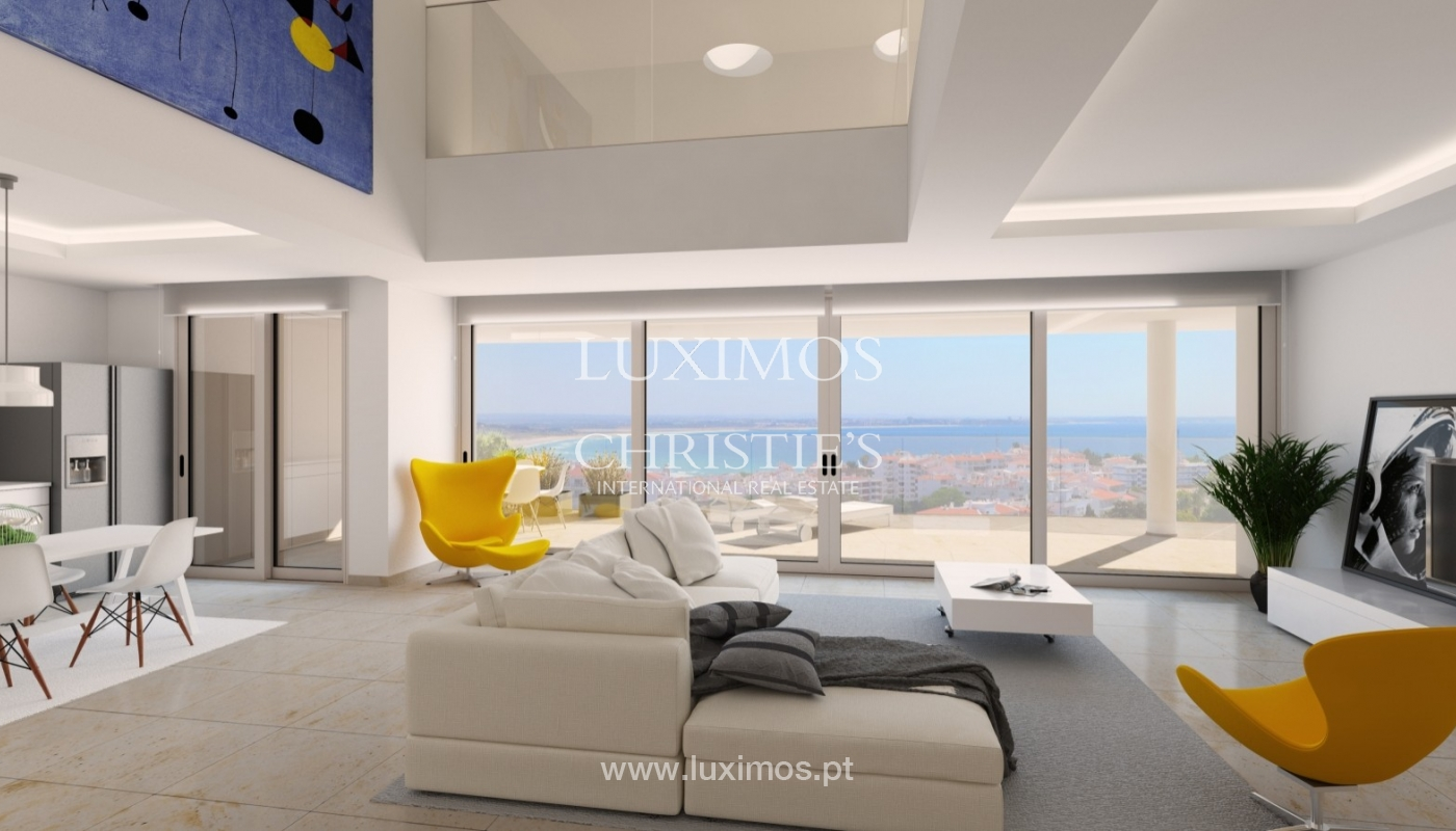 New penthouse for sale, pool and sea views, Lagos, Algarve, Portugal_55735