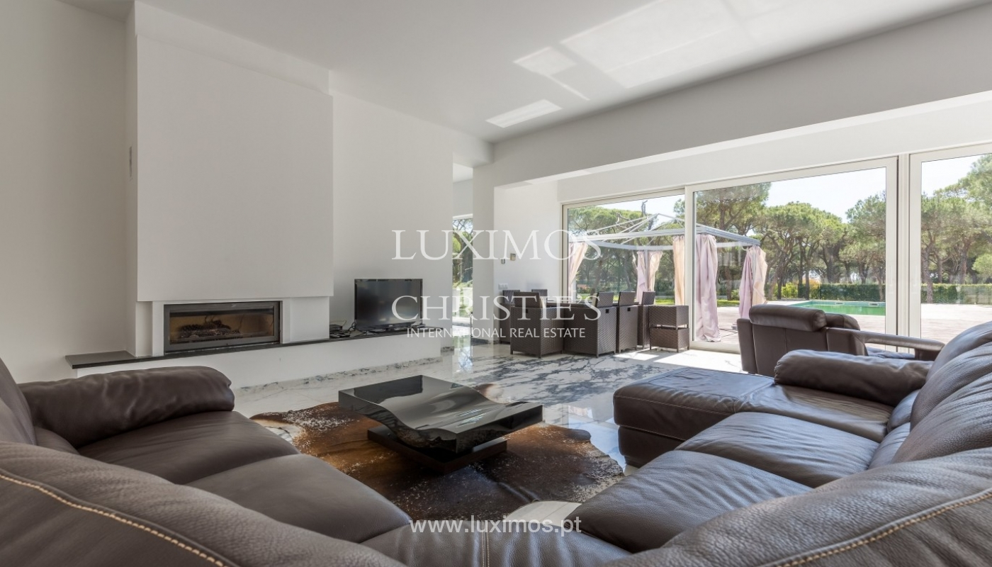 Luxury villa for sale, pool, by the golf, Vilamoura, Algarve, Portugal_56606