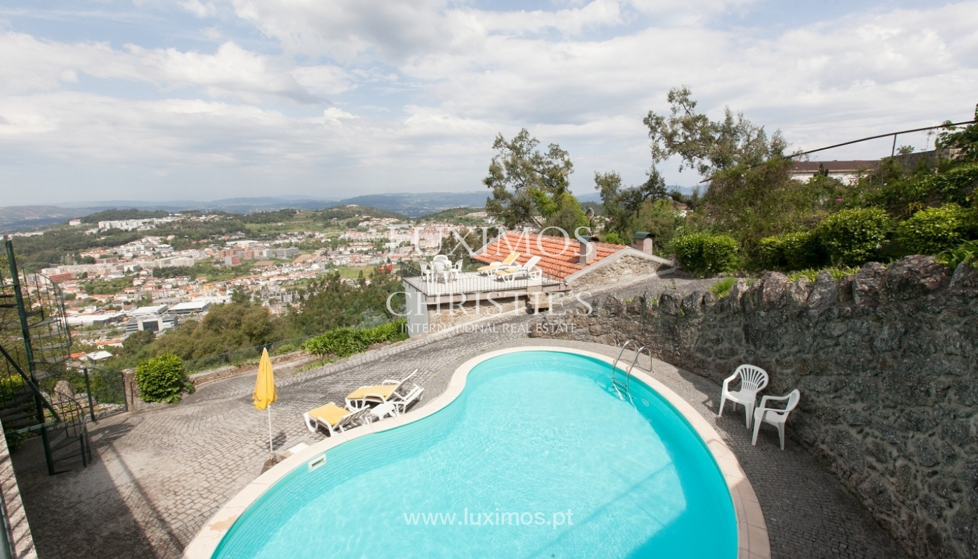 Villa with garden, lake and views over Braga, Portugal_57124