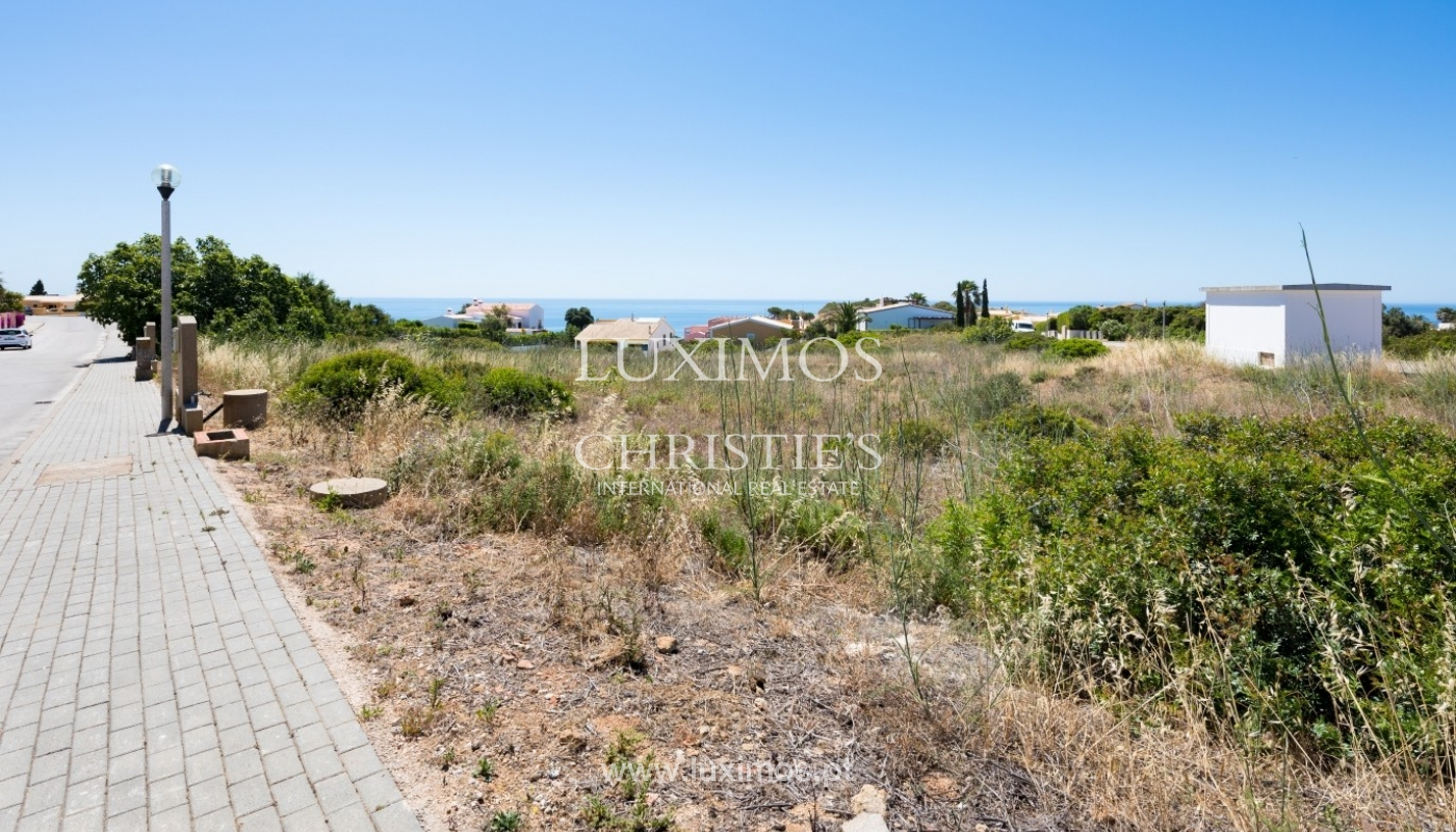 Plot area for sale for house construction, sea view, Algarve, Portugal_60814