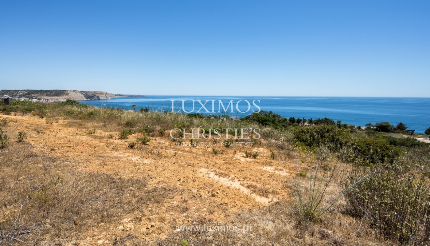 Plot area for sale for house construction, sea view, Algarve, Portugal_60825
