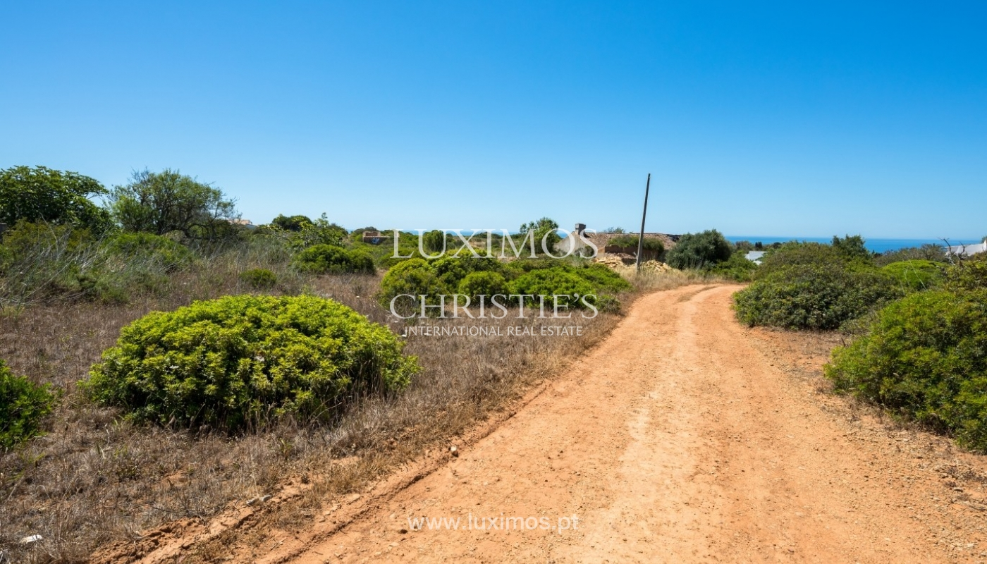 Plot area for sale for house construction, sea view, Algarve, Portugal_60833